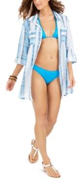Dotti Mykonos Cotton Striped Shirtdress Cover-Up Women's Swimsuit