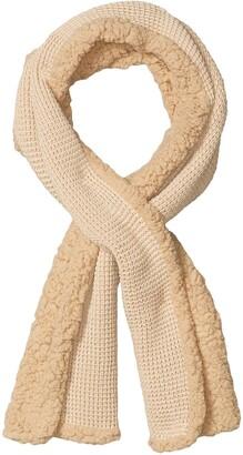 Timberland Womens Women's Knit Sherpa Fleece Scarf Grey One Size