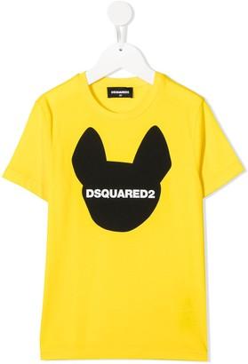 DSQUARED2 dog head print T-shirt