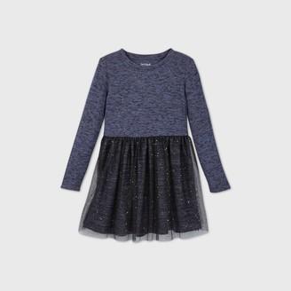 Cat & Jack Girls' Long Sleeve Cozy Tulle Dress - Cat & JackTM