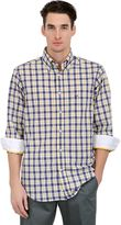 Paul & Shark Checked Cotton Poplin Button Down Shirt