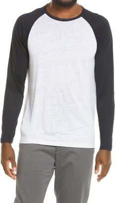 Vince Raglan Baseball Linen T-Shirt