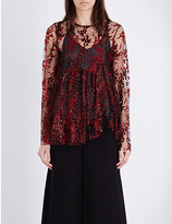 Opening Ceremony Glitter-embellished tulle top
