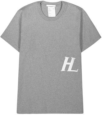Helmut Lang Grey Embroidered Cotton T-shirt
