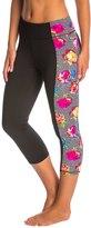 Betsey Johnson Printed Side Panel Crop Yoga Leggings 8146742
