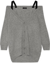 Theory Saline B Off-the-shoulder Cashmere Cardigan - Gray
