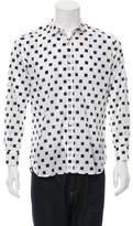 Saint Laurent Abstract Print Button-Up Shirt