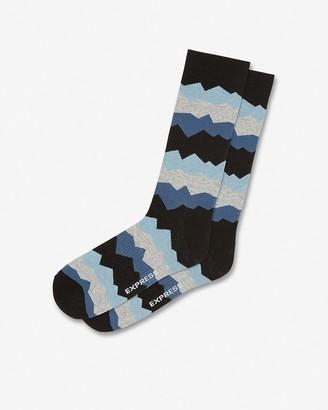 Express Zig-Zag Print Dress Socks