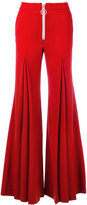 Off-White flared trousers - women - Spandex/Elastane/Virgin Wool/polyester - S