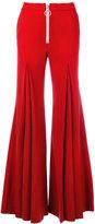 Off-White flared trousers - women - Spandex/Elastane/Virgin Wool/polyester - XS
