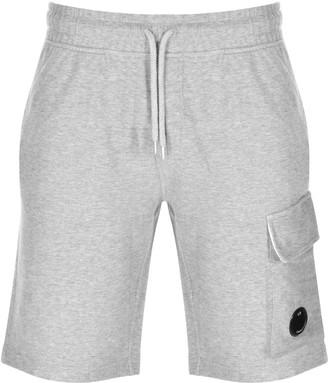 C.P. Company Logo Sweat Shorts Grey