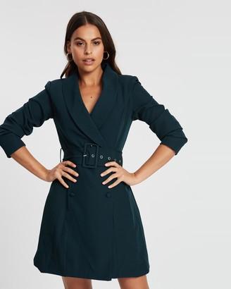 Missguided Self Belt Blazer Dress