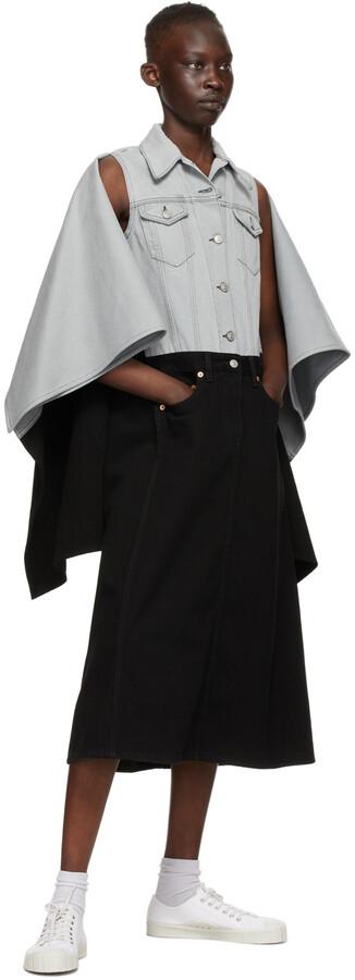 Thumbnail for your product : MM6 MAISON MARGIELA Grey & Black Denim Spliced Jacket Dress