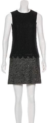 Dolce & Gabbana Wool-Blend Mini Dress