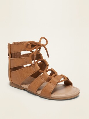 Old Navy Faux-Leather Gladiator Sandals for Toddler Girls