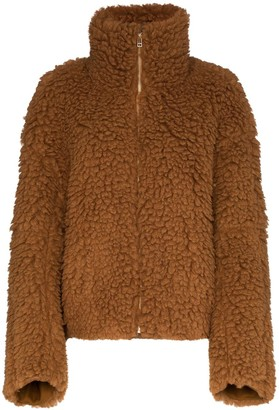 Eckhaus Latta teddy style faux shearling coat