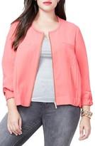 Rachel Roy Plus Size Women's Zip Front Bomber Jacket