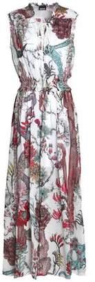 Just Cavalli Printed Chiffon Maxi Dress