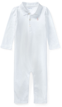 Ralph Lauren Kids Interlock Polo Coverall, Size 3-12 Months