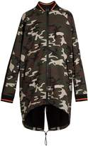 The Upside Camouflage-print drawstring jacket