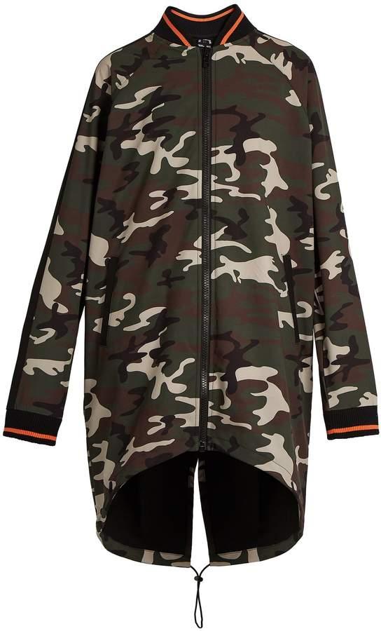 The Upside Camouflage-print drawstring jacket