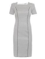 Nina Ricci Polka-dot short-sleeved dress