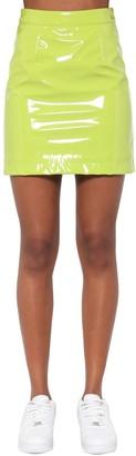 Kirin High Waist Vinyl Mini Skirt