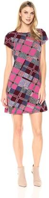 Ellen Tracy Women's Plaid Tshirt Dress