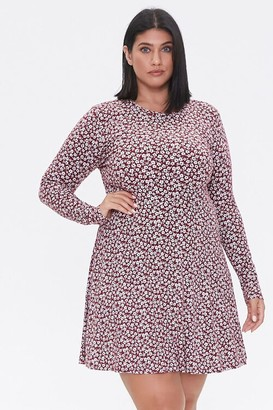 Forever 21 Plus Size Ditsy Floral Skater Dress