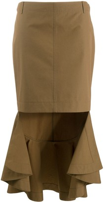 Givenchy Asymmetrical Skirt With Ruffle