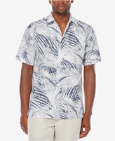 Cubavera Men's Linen Palm-Print Shirt