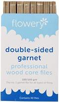 Flowery Wood Core Professional File Double Sided Garnet, 7 Inch, 40 Count
