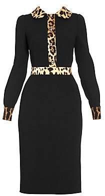 Dolce & Gabbana Women's Leopard Trim Dress