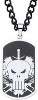 JCPenney FINE JEWELRY Marvel Punisher Mens Stainless Steel and Black IP Dog Tag Pendant Necklace