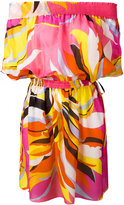 Emilio Pucci off-the-shoulder dress - women - Silk/Cotton - 40