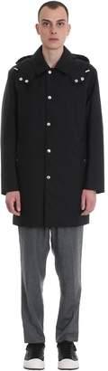 MACKINTOSH Dunoon Hood Coat In Black Polyester