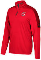 adidas Men's New Jersey Devils Authentic Pro Quarter-Zip Pullover