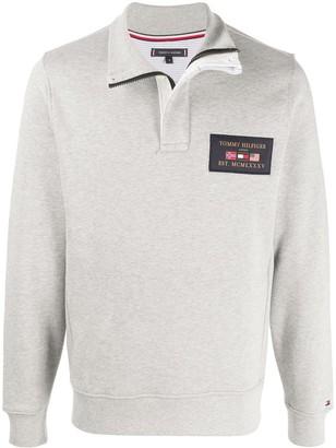 Tommy Hilfiger Long Sleeve Logo Patch Jumper