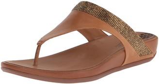 FitFlop Women's Banda Micro Crystal Toe Post Flip Flop