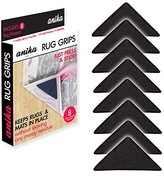 Anika 8-Piece Non-Slip Self Adhesive Rug Grippers, Pack of 8