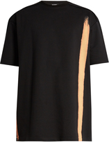 Raf Simons Bleached-print cotton-jersey T-shirt