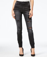 GUESS 1981 Ripped Black Wash Skinny Jeans