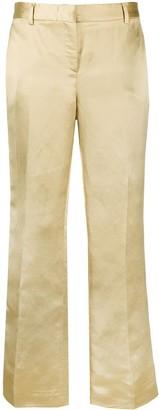 L'Autre Chose Metallic-Finish Straight-Leg Trousers