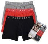 Hugo Boss Boxer Brief 3P BM US Cotton Boxer Brief, 3-Pack M Open Red