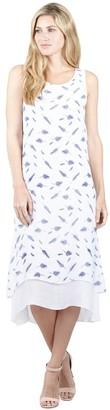 M&Co Izabel leaf print midi tunic dress