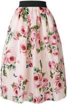 Dolce & Gabbana rose print full skirt
