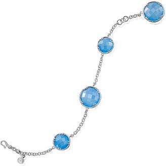 Delatori By Alor Silver 43.00 Ct. Tw. Blue Agate Bracelet