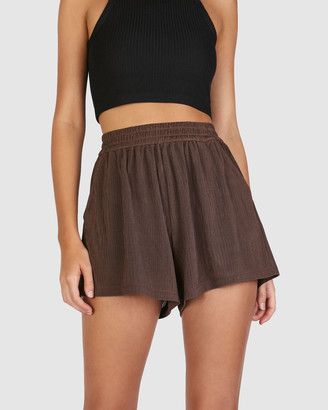 Chosen By Tuchuzy - Women's Brown Shorts - Rolla Short - Size One Size, XS at The Iconic