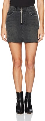 Siwy Women's Madonna Mini Skirt in Black Vintage Cadillac 24