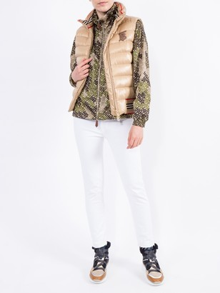 Burberry Monogram Print Nylon Funnel Neck Jacket